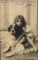 Cp Kleines Mädchen Auf Dem Rücken Ihres Hundes, RPH 7655 - Illustrators & Photographers