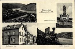 Cp Bingerbrück Bingen Am Rhein, Stadtansichten, Gasthaus Zur Rose, Schloss Rheinstein - Other