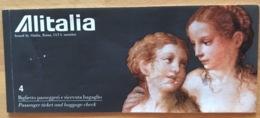 ALITALIA TICKET 29JUL98  BARCELONA MILAN TRIESTE - Tickets