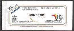 PAKISTAN PASSENGER AIR TICKET AERO ASIA - Tickets