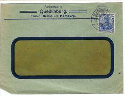 ALLEMAGNE 1912: LSC  De Quedlinburg Pour Nyon (Suisse) Avec Obl. CAD Sur TP Perforé De 20 Pf. - Germany