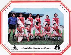 Autocollant Football Championnat France Division 1 Saison 1978/79 - AS Monaco - Le Coq Sportif Hunga - Courbis Ettori - Other