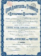 UNION ANVERSOISE De TRAMWAYS Et D'ENTREPRISES ÉLECTRIQUES - Chemin De Fer & Tramway