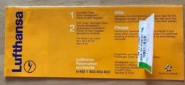 LUFTHANSA TICKET 30.APR98  VENICE NICE VENICE - Tickets