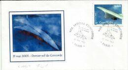 Dernier Vol Commercial De Concorde Avec Air France Au Départ De Roissy Pour JFK  N-Y 31 Mai 2003 - Concorde