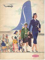 SABENA EXPO 58 VIERTALIGE FOLDER VAN SABENA MET ACHTERAAN PROMOTIE VOOR DE WERELDTENTOONSTELLING 1958 24 Blz - Publicités