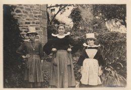 Photo 1922 NEVEZ - Port Manech (Manec'h), Mme Peron Avec Madeleine Et Andrée (A222) - Névez