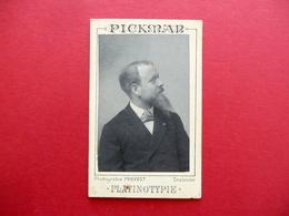 Autografo Jean Lambert Pickman Fotografia Provost 1890 Mentalista Prestigiatore - Autografi