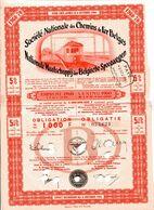 SNCB - NMBS: Obligation - Obligatie De/van 1000 F (1960) - Chemin De Fer & Tramway