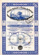 SNCB - NMBS: Obligation - Obligatie De/van 5000 F (1960) - Chemin De Fer & Tramway