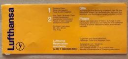 LUFTHANSA TICKET 13JUL98 ROME NICE ROME - Tickets