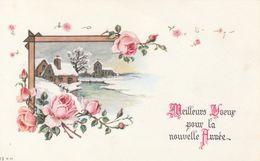 Mignonnette - Meilleurs Voeux Pour La Nouvelle Année - Paysage Fleurs - Nouvel An