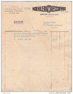 71 MACON FACTURE 1954  KOEHLER ESCOFFIER Motos ( BP5) - 1950 - ...