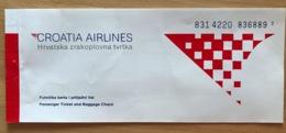 CROATIA AIRLINES TICKET 21MAR98 DUBROVNIK ZAGREB - Tickets