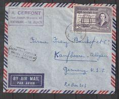 """Belgien / 1956 / Mi. 1038 """"Mozart"""" EF Auf Lupo-Brief Nach Deutschland (CH41) - Belgium"""