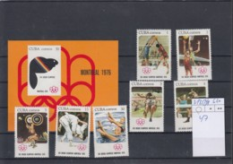 Kuba Michel Kat.No. Mnh/** 2135/2141 + Sheet 47 Olympia - Cuba