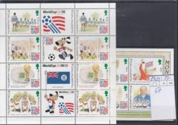 Montserrat Michel Kat.No. Mnh/** Sheet 896/899 + Sheet 67 Soccer - Montserrat