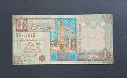 CG0701 - Libya 1/4 Dinar Banknote 2002 # 5H/27124612 - Libië