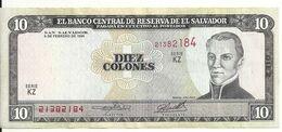 EL SALVADOR 10 COLONES 1996 VF+ P 144 - El Salvador