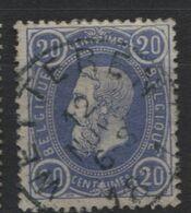 N°31 Obl. Sc Centrale WETTEREN - 1869-1883 Leopold II