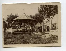 St Raphael Manége Forain Carrousel Chevaux De Bois 1898 Photo Format 4,5x6 - Foto's