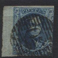 N°7 Grand Bdf (lettres En Filigramme) Obl P50 GOSSELIES. Bord De Feuille - 1858-1862 Medallions (9/12)