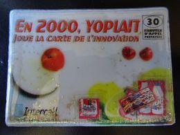 """Yoplait Carte Téléphone Promotionnelle 30 Minutes Prépayées 1200 Exp Octobre 2000 """"EN 2000 YOPLAIT JOUE CARTE INOVATION"""" - France"""