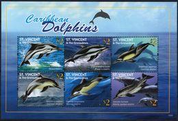 St Vincent 2011 - Faune Marine Des Caraïbes, Dauphins - BF Neufs // Mnh - St.Vincent Y Las Granadinas