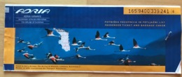 ADRIA AIRWAYS TICKET 09SEP98 LJUBLJANA FRANKFURT MOSCOW KRASNODAR MOSCOW - Tickets