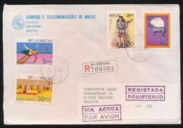 MACAU  - COVER  1990  REGISTERED MAIL   TO DE PINTE / BELGIUM  LOOK 2 SCANS - Macao