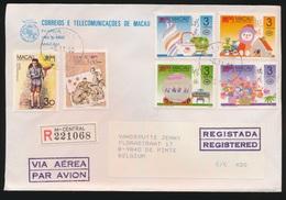 MACAU  - COVER  1990   REGISTERED MAIL   TO DE PINTE / BELGIUM - Macao