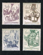 CECOSLOVACCHIA (CZECHOSLOVAKIA) -  SG 1593.1596   - 1966  CULTURAL ANNIVERSARIES (COMPLE SET OF 4)    -  MINT** - Czechoslovakia