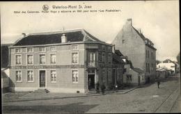 Cp Waterloo Bruxelles Brüssel, Hotel Des Colonnes, Victor Hugo - Bruxelles-ville