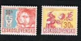 CECOSLOVACCHIA (CZECHOSLOVAKIA) -  SG 1625.1626   - 1967  NATIONAL CONGRESSES (COMPLET SET OF 2)    -  MINT** - Czechoslovakia