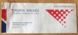 CROATIA AIRLINES TICKET 31MAY98 COPENHAGEN LONDON COPENHAGEN - Tickets