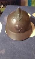 Casque Adrian Modèle 1926 Avec Attribut  DES SPAHIS TIRAILLEURS ET ZOUAVES - Headpieces, Headdresses