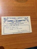 Carnet De 20 Vignettes Des Armées Et De Franchise Militaire - Infanterie 1940 - Vignettes Militaires