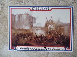 CPM 1789 1989 Bicentenaire De La Révolution Prise De La Bastille Le 14 Juillet Ed Equinoxe - Geschichte