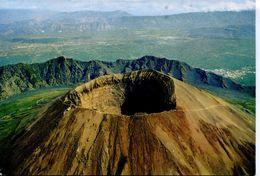 """Vesuvio - Cratere, Veduta Aerea * Bollo Dell' """"Osteria Alla Vetta"""" - Italy"""