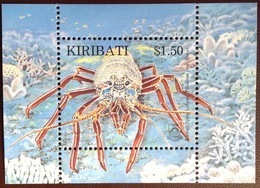 Kiribati 1998 Spiny Lobster Minisheet MNH - Schalentiere