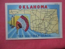 Oklahoma  Map  The Sooner State  Ref 4262 - Etats-Unis