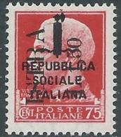 1945 OCCUPAZIONE JUGOSLAVA ISTRIA POLA 1,50 LIRE SU 75 CENT MNH ** - RB37-6. - Joegoslavische Bez.: Istrië