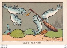 IMAGES ILLUSTREES. Poisson  Une Bonne Farce.  Illustrateur Benjamin RABIER. ..C350 - Autres