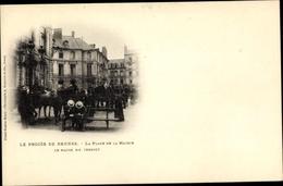 Cp Les Procès De Rennes, La Place De La Mairie, Le Matin Du Verdict, Dreyfus Affäre - Professions
