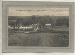 CPA - (76) EPOUVILLE - Aspect De L'arrivée Du Train En Gare Et Du Passage à Niveau En 1924 - Val De La Drille - France