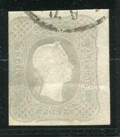 AUSTRIA 1861 Franz Joseph (1.05) Kr. , Used.  Michel 23a.  Steiner Short Certificate. - Journaux