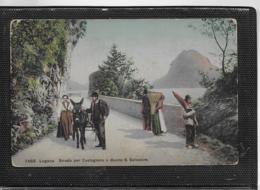 AK 0536  Lugano - Strada Per Castagnola E Monte S. Salvatore Ca.. Um 1910 - TI Tessin