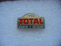 Pin's Courses, Rallyes Automobiles: TOTAL, Paris-Le Cap 1992 - Rally