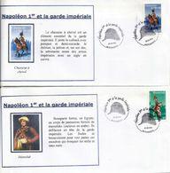 Napoleon Et La Garde Impériale, Série De 6 Enveloppes , Oblitération Chapeau De Napoléon (Bicorne) Pontivy 2004 - Napoleon