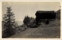 Cp St. Luc Kt. Wallis Schweiz, Coin Rustique, Bauern Mit Sense, Hütte - Berufe